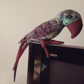 Мягкая интерьерная игрушка -тильда. Попугай Кеша . Ручная работа