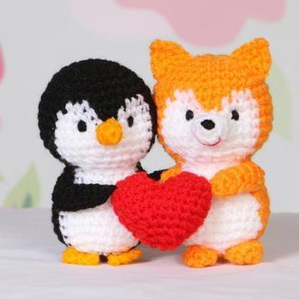 Парочка (пингвин и лисичка)