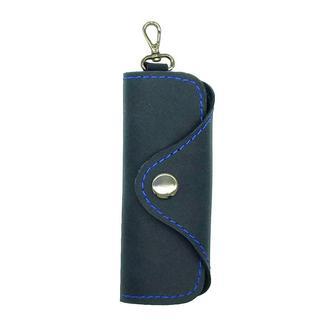Ключница для 4 ключей из натуральной Кожи Синяя keys