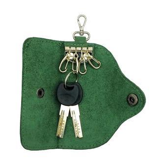 Ключница для 4 ключей из натуральной Кожи Зелёная keys