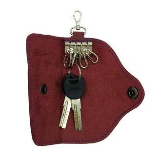 Ключница для 4 ключей из натуральной Кожи Фиолетовая keys