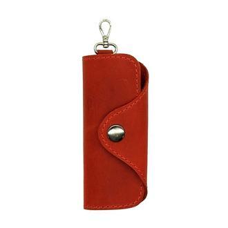 Ключница для 4 ключей из натуральной Кожи Красная keys
