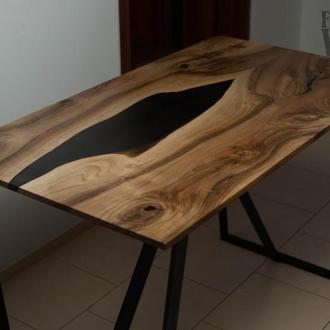 Стол река из ореха в стиле Лофт. Loft. Walnut river table