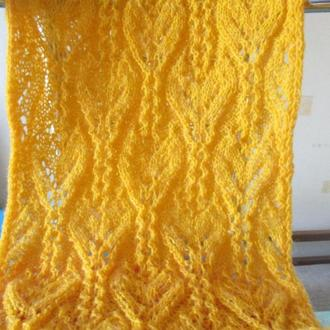 вязаный шарф солнечный