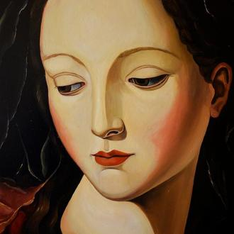 Madonna Anna. Oil Painting.