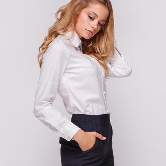 Рубашка белая в горох (L)