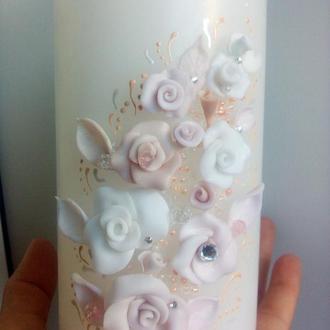 Семейный очаг пудровые розы