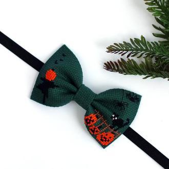 "Вышитая галстук-бабочка ""Halloween"""