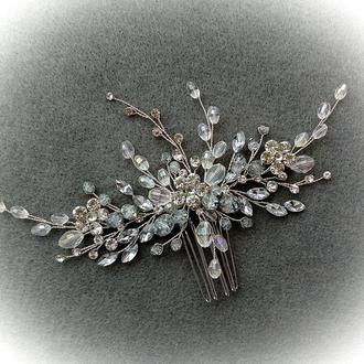 Свадебное украшение для волос, гребешок в прическу, украшение в прическу невесте