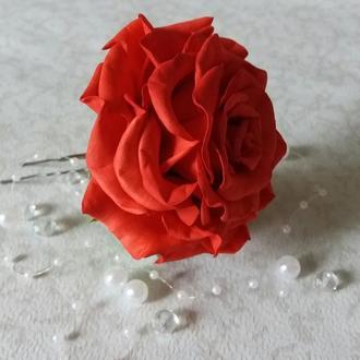 Шпилька в зачіску, шпилька з трояндою