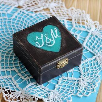 Коробка с бирюзовым сердцем