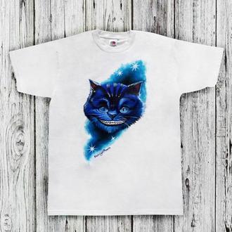Мужская футболка с Чеширским котом