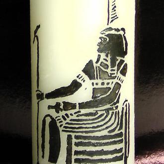 Свеча декоративная расписная в ассортименте