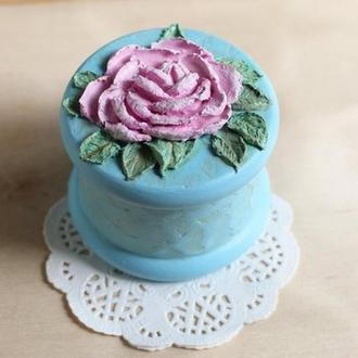 Кробка для колец с розой