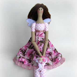 Цветочная фея Тильда в розовом