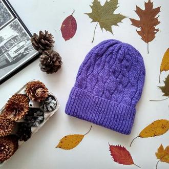 Вязаная шапка ′Фиолетовый бум′