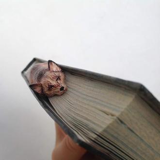 Закладка ( скрепка) для книг, блокнотов Собака Корги
