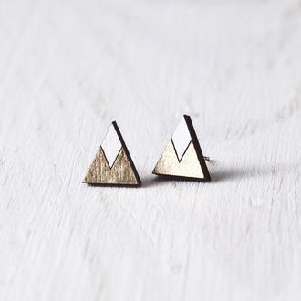 Серьги горы, Серьги треугольники, Подарок девушке