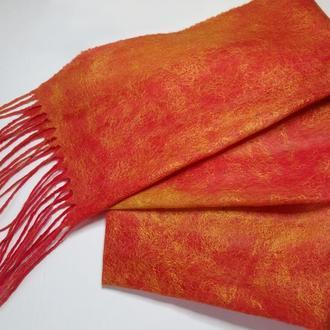 Валяный шарф - паутинка