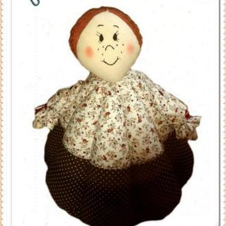 Эксклюзивная баба-грелка для чайника ПЕЛАГЕЯ, авторская ручная работа