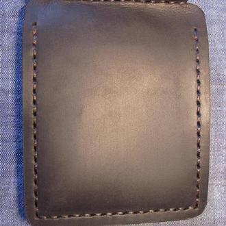 стильний зажим затискач для грошей, зажим для денег коричневий