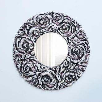 "Зеркало круглое ""Розы"""
