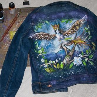 Ручная роспись одежды, джинсовка, пиджак