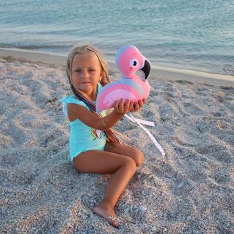 Фламинго малыш, рисунок, 25см.