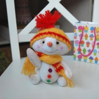 Снеговик большой Желтый