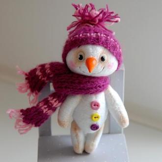 Плюшевый Снеговик Лиловый