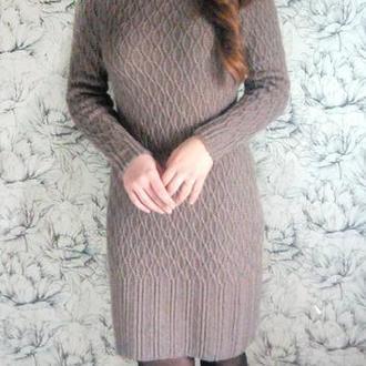 Демисезонное вязаное платье