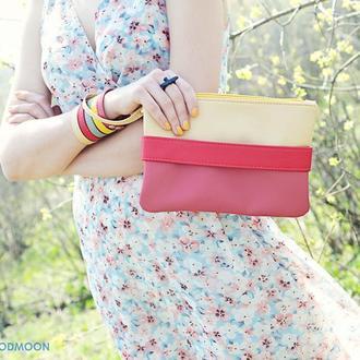 """Розовый клатч - сумочка """"CarryMe"""""""