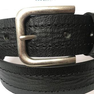 Стильный кожаный ремень под джинсы