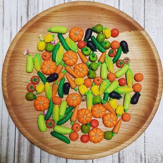 Набор мини овощей-фруктов для игры, еда для кукол, миниатюра