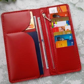 Жіночий шкіряний гаманець, жіноче портмоне бумажник женский с отделом для монет на подарок