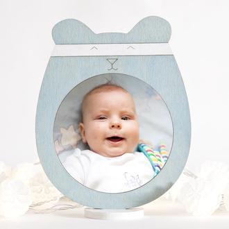Детская фоторамка, Декор в детскую голубой