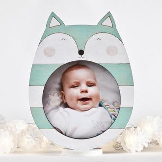 Фото рамка лисичка, Детская рамка для фото