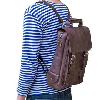 Кожаный рюкзак, мужской. Кожа Crazy Horse