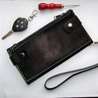 Кожаный кошелек-клатч унисекс из Краста 1.4-1.8 мм