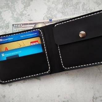 Мужской бумажник,кошелек из натуральной кожи