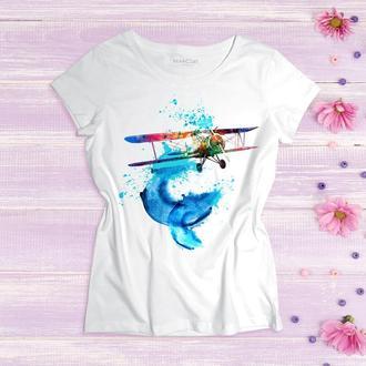 """Женская футболка """"Хочу летать"""""""