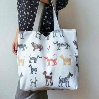 Сумка шопер, эко-сумка, текстильная сумка.