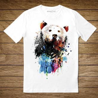 "Унисекс футболка с принтом ""Медведь"""