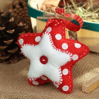 """Новогодняя игрушка на ёлку """"Звезда"""""""