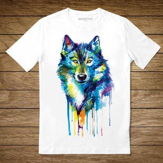 "Унисекс футболка с принтом ""Волк"""