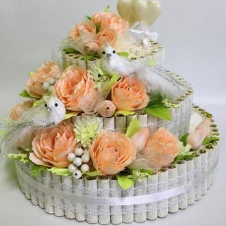 Торт из конфет (свадебный торт из конфет)