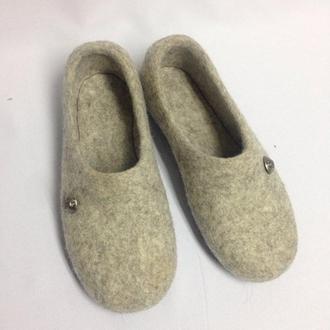 Мужские комнатные валяные тапки Тапочки домашние 100% шерсть