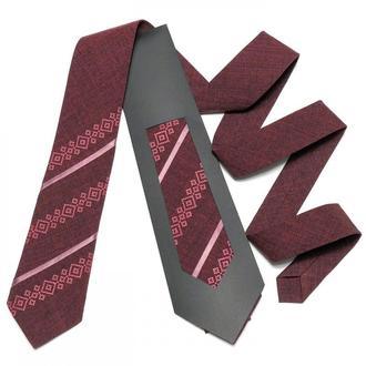 Оригинальный вышитый галстук №758