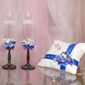 Набір весільних аксесуарів з гортензією