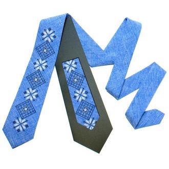 Вышитый галстук №733, Оригинальный сувенир из Украины, Подарок директору